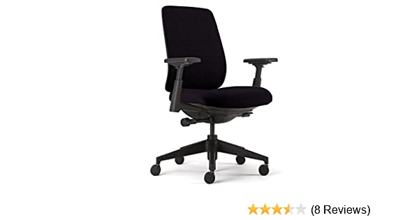 Amazon.com: Lively Task Chair by Haworth: Forward Tilt-Back Lock/Adjustable Seat - 4-D Arms - Lumbar Support: Kitchen & Dining