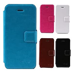 LIMME KLW PU Leather Full Body Case with Elegant Texture for iPhone 5/5s (Assorted Colors) , White