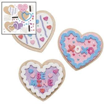 Valentine Cookie Foam Magnet Craft Kit (Makes 12)