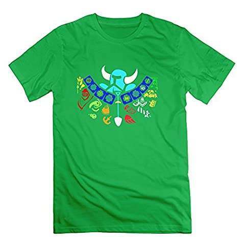 Fashion Shovel Knight Amiibo Ui Men's T Shirt ForestGreen Size L (Samsung Tab 4 Case Mario)