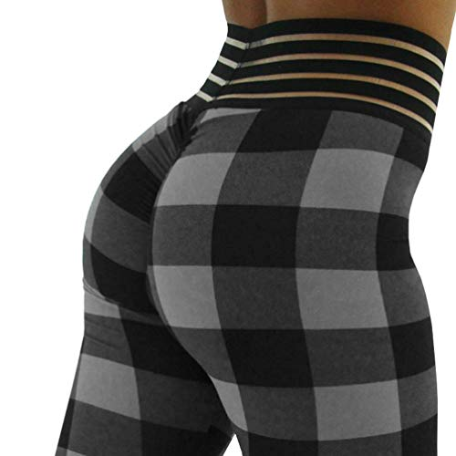 (Meilidress Womens Ruched Butt Lifting Leggings High Waisted Workout Sport Tummy Control Gym Yoga Pants (4-p-Black,)