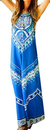 Beachwear Sleeveless Women Dress Printed As Picture Fashion Jaycargogo Halter 5q1nwpwI