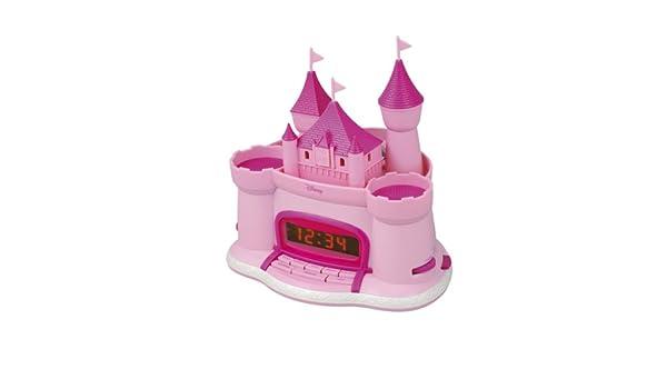 Disney - Radiodespertador con diseño de castillo y proyector ...