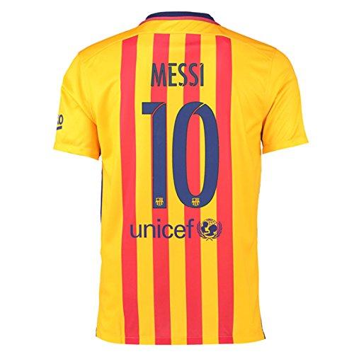 2015-16 Barcelona Away Shirt (Messi 10) B077VLN2HHRed Small 34-36\