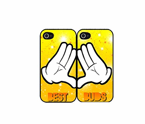 BleuReign(TM) Character Hands Best friends bff Set of 2 Best Friend Plastic Phone Case Back Covers iPhone 4 4s
