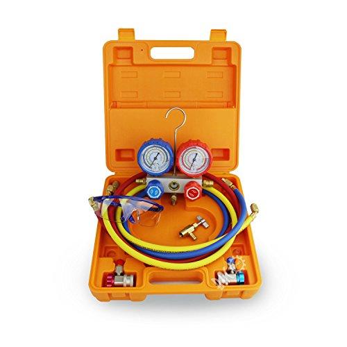 🥇 BACOENG Manifold Gauge Kit Manómetro AC Colector de Medición R134A R410A R407C R22 Refrigerantes
