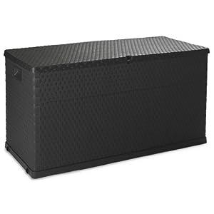 Toomax Baule Multibox da Esterni, plastica Imitazione Rattan, 420L capacità, Dim cm 120x56x63h, Colore Antracite 2 spesavip