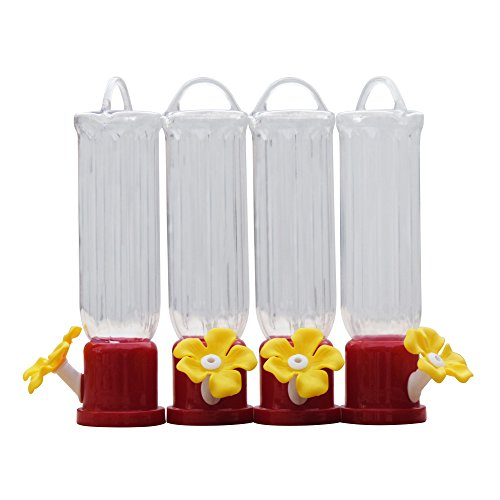 GrayBunny GB-6846B Mini Hummingbird Feeders, Set of 4, Includes Hanging Wires