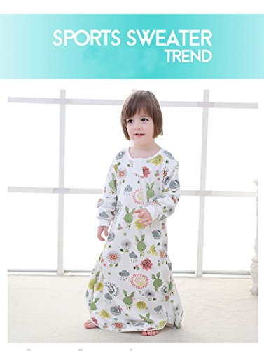Floral Detachable Sleeve Organic Cotton Baby Sleep Bag Sack Wearable Blanket M by The morning (Image #5)