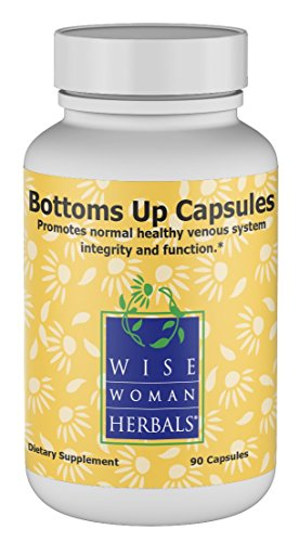 Wise Woman Herbals – Bottoms Up Capsules – All-Natural Supplement for Internal and External Piles, Anal Fissure, Rectal Swelling, Itching and Burning, Anal Irritation Support