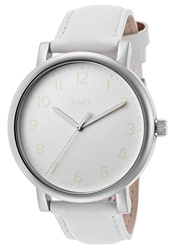 Timex T2N345 43mm Stainless Steel Case Leather Mineral Women's Watch