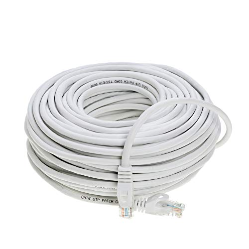 Cable Networking Cables - 75FT Cat6 Networking RJ45 Ethernet Patch Cable Xbox \ PC \ Modem \ PS4 \ Router - (75 Feet) White
