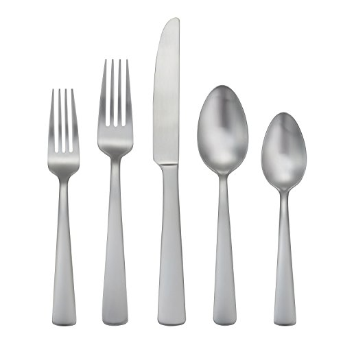 Oneida Anderson 45 Piece Casual Flatware Set, 18/0 Stainless, Service for ()