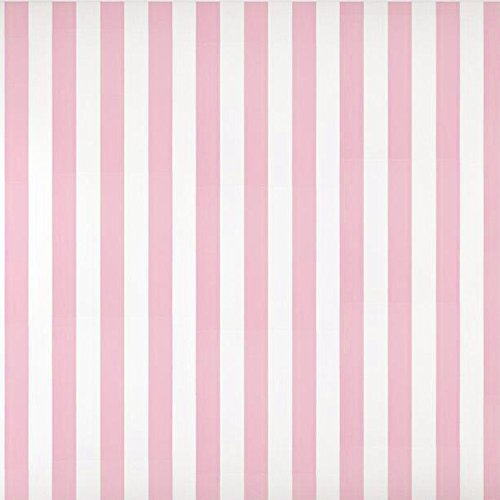 Baby Nursery Room Kids Girls Room Pink White Striped Wallpaper Roll 20.8 inch x 33 feet