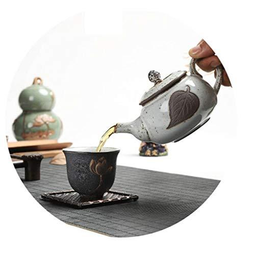 Exquisite Tea Cups Saucers Set Set Coffee Cup Silver Teapot Tea Pot Manual Tea Filter Wood Teapot Household Kitchen 200ML by Kinue (Image #2)