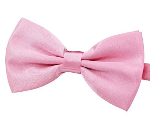 (Amajiji Formal Dog Bow Ties for Medium & Large Dogs (D113 100% Polyester) (Light Pink))