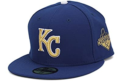 New Era Men's 59FIFTY Kansas City Royals-World Series Champions-On Field-Fitted Hat Cap