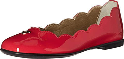 Armani Junior Baby Girl's Patent Leather Ballet Flat (Toddler/Little Kid/Big Kid) Red Flat by Armani Junior