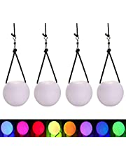 4 Pcs LED Poi Balls Thrown Balls for Professional Hip-hop, Indoor/Outdoor Activities Belly Dance Level Hand Props for Kids Gift