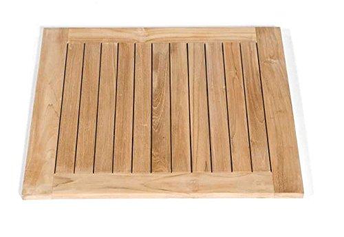 SonnenPartner Tischplatte Tunis Teakholz-Natur 70 x 70 made by Müsing Abmessungen: 70 x 70 cm Höhe Tischplatte: 30 mm Material Tischplatte: Teakholz Farbe: Teakholz-Natur Plattengewicht: 6 Kg Tischgestell: Ohne/ Nur Platte