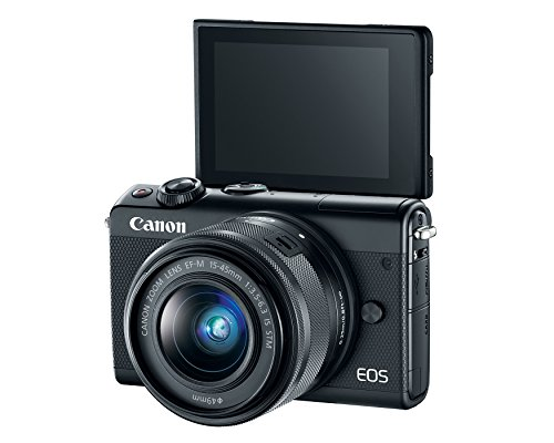 Canon EOS M100 Mirrorless Camera w/ 15-45mm Lens & 55-200mm Lens - Wi-Fi, Bluetooth, and NFC enabled  (Black)