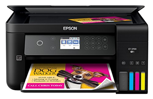 (Epson Expression ET-3700 EcoTank Wireless Color All-in-One Supertank Printer with Scanner, Copier and Ethernet)