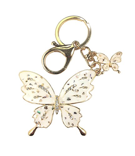Amino✮ Oriental Butterfly Keychain Charm For Handbags (Speckled)