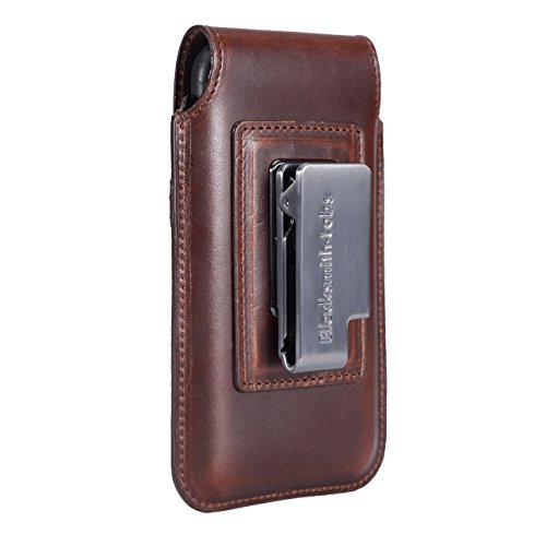 Limited Edition: Blacksmith-Labs Barrett Mezzano 2017 Premium Leather Swivel Belt Clip Holster for Apple iPhone 6/6s/7 for use with Apple Leather Case - Horween Chromexcel Havana Brown/Gunmetal Clip by Blacksmith-Labs (Image #3)
