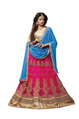 PCC Indian Women Designer Wedding Pink Lehenga Choli Fabz-2073