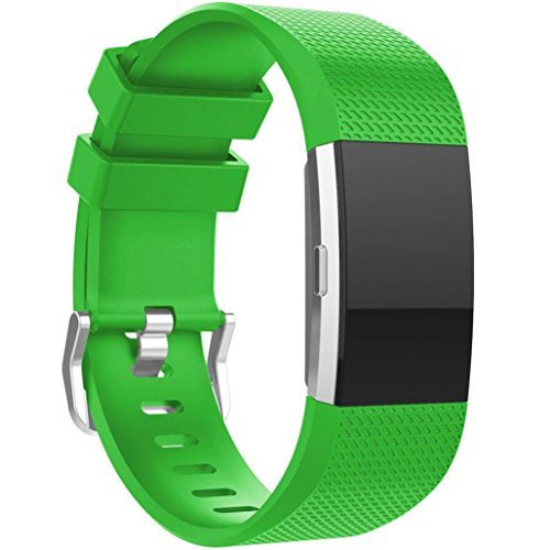 GBSELL New Small Fashion Sports Silicone Bracelet Strap Band For Fitbit Charge 2 (Green) - Hr Womens Green