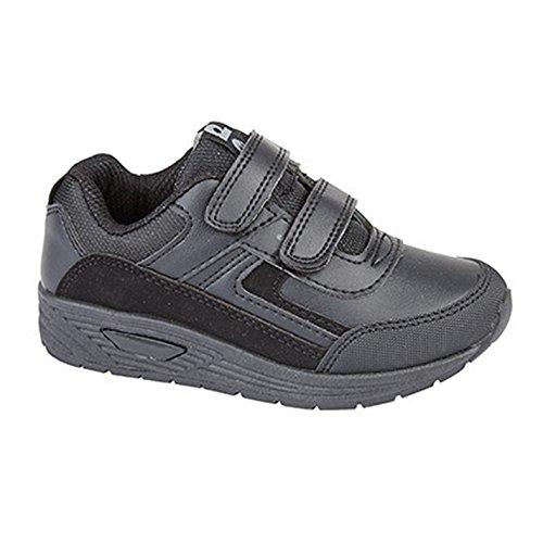 Dek - Zapatillas con cierre de velcro Modelo Feliz para niños Negro
