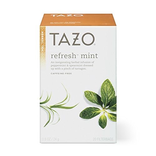 (Tazo Refresh Mint Herbal Tea Filterbags , 20 Count (Pack of 6))