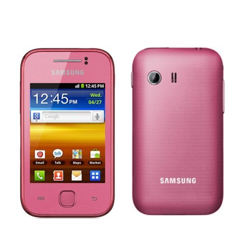 Samsung S5360 Galaxy Y Unlocked GSM Quad-Band Smartphone with Android OS, Touchscreen and 2 MP Camera - No Warranty - Pink