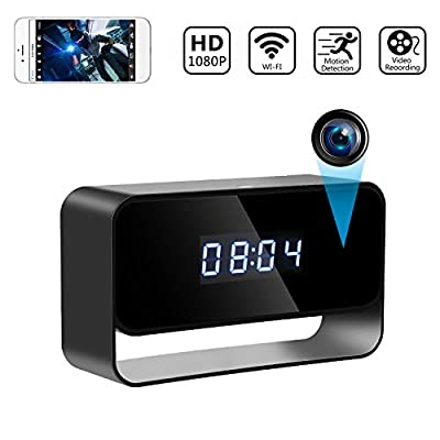 Spy Camera Wireless Hidden Cameras Clock True 1080P Covert WiFi Nanny Cam Secret Home Security Cams Strong Night Vision Video Recorder Remote View via iPhone Android APP from Goospy