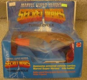 1984 Vintage Mattel Super Heroes Marvel Secret Wars boxed Turbo Cycle (Mattel Secret Wars)