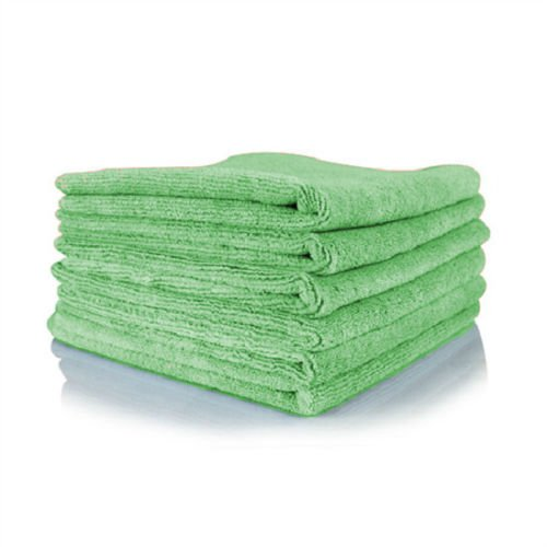 GHP 240-Pcs 16''x16'' 300 GSM Lime Absorbent Microfiber Plush Cleaning Towels