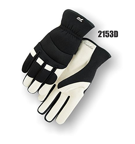 (12 Pair) Majestic SLIP ON GOATSKIN PALM GLOVES WITH KNIT BACK - XTRA SMALL(2153D/ 7)