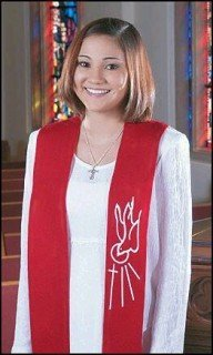 Catholic Church Ceremony Descending Dove with Cross and Rays 45 Inch Red Felt Confirmation Stole by Religious Gifts -