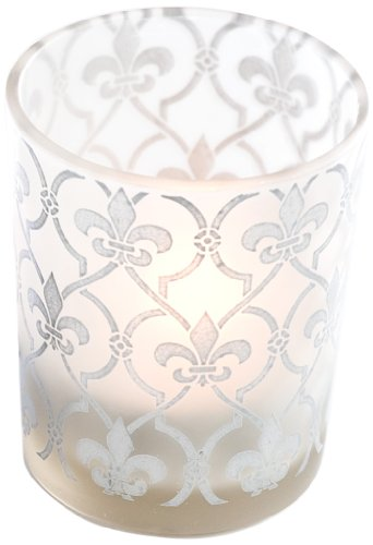 Kate Aspen 20097SV Tealight Holder, Fleur-de-lis, 4 pack