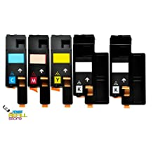 5 Xerox 106R01627 106R01628 106R01629 106R01630 Compatible Toner Cartridges for Xerox Phaser 6000 6010N WorkCentre 6015 by Toner Refill Store