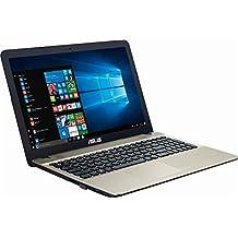"2017 ASUS VivoBook 15.6"" HD High Performance Laptop PC, Intel Pentium Quad-Core N4200 Processor, 4 GB RAM, 500GB HDD, DVD/CD Burner, WIFI, HDMI, Webcam, Windows 10"