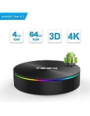 SIDIWEN T95Q Android 8.1 TV Box con 4GB RAM 64GB ROM Amlogic S905X2 Bluetooth4.1 2.4 / 5.0G WiFi Quad Core 64 bits H.265 3D UHD 4K Smart Internet TV Box