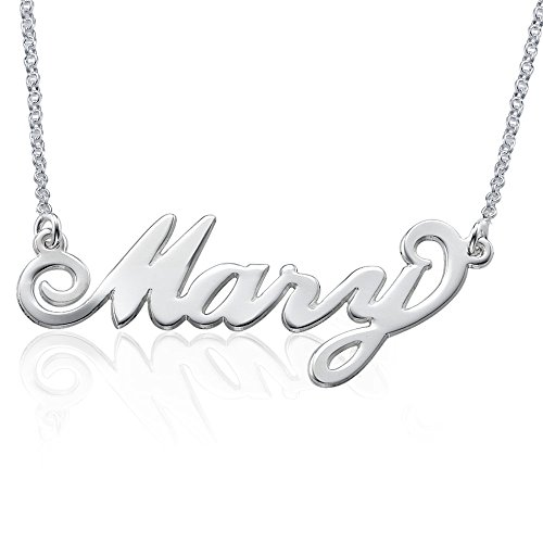 - Personalized Name Necklace in 925 Sterling Silver - Custom Made Pendant with Any Name! Gift for Her