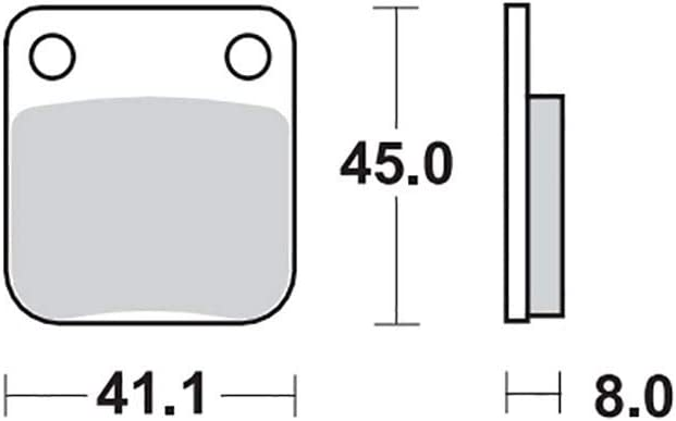 Bremsbelag Moto-Master RoadPRO Ceramic ZX 125 Enduro 4T QM125GY-2B 10 hinten