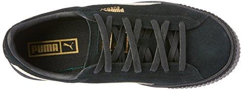 Puma Suède Platform Fl Womens Sneakers 364718 Sneakers Schoenen Zwart / Wit-goud