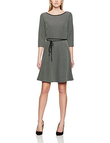 s.Oliver Kleid Kurz, Vestido para Mujer Schwarz (Grey/Black Stripes 99G1)