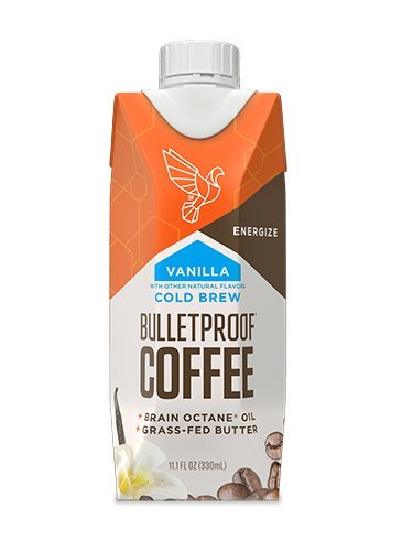 (Bulletproof Coffee Cold Brew Ready To Drink- Ketogentic Diet, Sugar-Free, Includes Grass-Fed Butter and Brain Octane Oil, Vanilla (12 Pack))