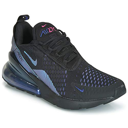 78141b75b4ef Nike Men s Air Max 270 Black Laser Fuchsia Regency Purple Mesh Running Shoes  13