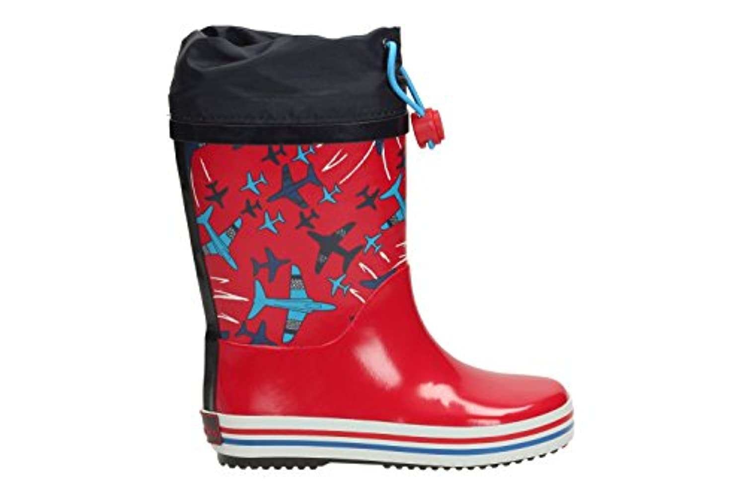 Clarks Boys Seasonal Tarri Fly Inf Synthetic Wellies In Red Combi Wide Fit Size 4.5