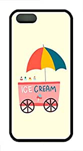 Ice Cream Customized Popular DIY Hard Back Case Cover For iPhone 5 5S Soft Black